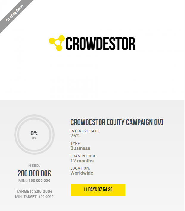 Crowdestor Equity Campaign